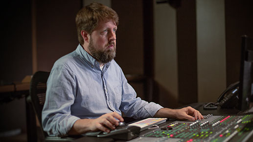 Paul Zahnley - Sound Editor and Re-recording Mixer in studio D